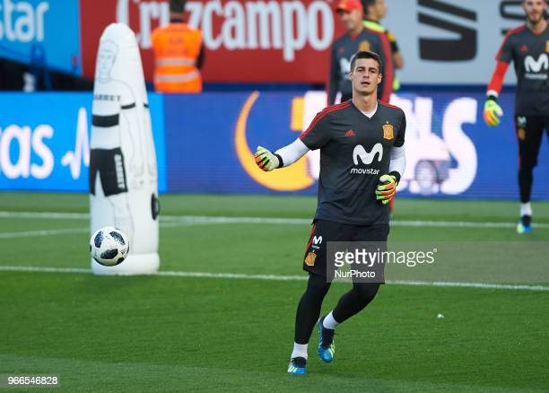 Spain's player Kepa Arrizabalaga during the training session of Spain's national football team at the La Ceramica StadiumVilareal on June 2 2018