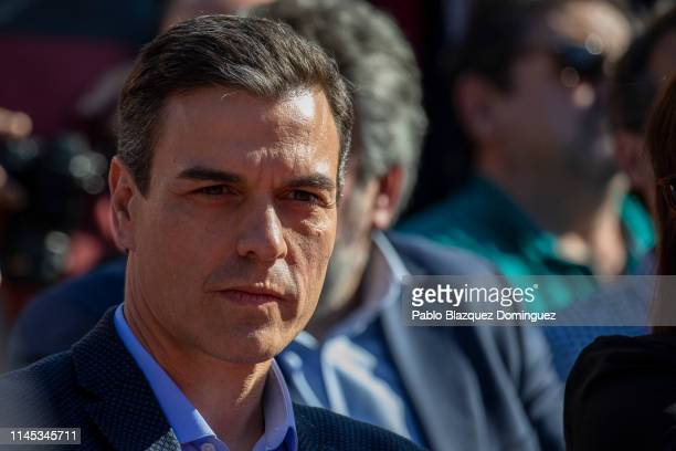 Spain's Prime Minister and Spanish Socialist Workers' Party leader Pedro Sanchez attends the closing rally on April 26 2019 in Madrid Spain This will...