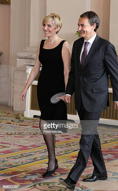 Spain's Prime Minister Jose Luis Rodriguez Zapatero and his wife Sonsoles Espinosa attend the VI European UnionLatin America and Caribbean Summit...