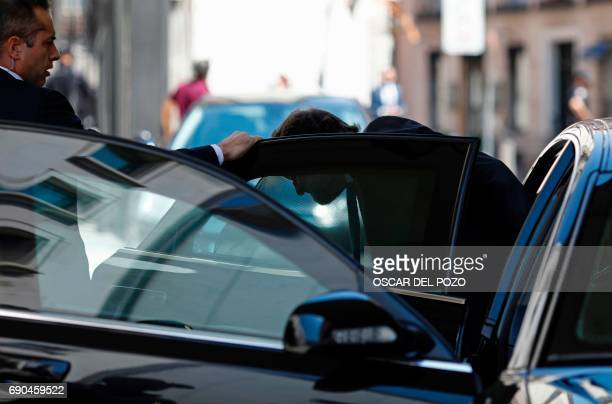 Spain's Prime Minister Mariano Rajoy arrives at the Spanish Congress on May 31 2017 Spain's prime minister at the head of a minority government puts...