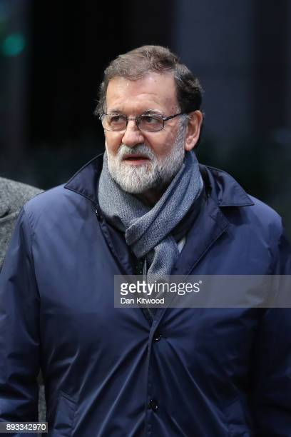 Spain's Prime Minister Mariano Rajoy arrives for the second day of the European Union leaders summit at the European Council on December 15 2017 in...