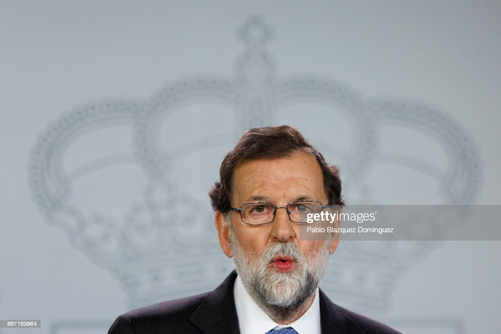 Spanish Prime Minister Holds Press Conference Over Catalan Independence Crisis