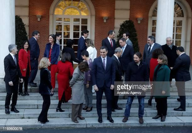 Spain's Prime Minister Pedro Sanchez Spain's Deputy Prime Minister of Economic Affairs Nadia Calvino Spain's Deputy Prime Minister and Minister of...