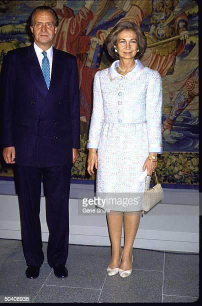 Spain's Prince Juan Carlos and his wife Sofia