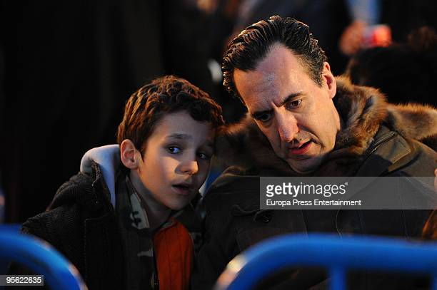 Spain´s princess Elena's ex husband Jaime de Marichalar his son Felipe Juand and daughter Victoria Federica attend the procession of the Wise Men on...