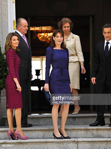 Spain's Princess Letizia Spain's King Juan Carlos French President Nicolas Sarkozy's wife Carla BruniSarkozy and French President Nicolas Sarkozy and...