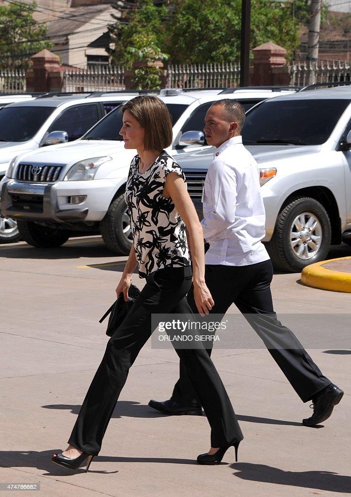 HONDURAS-SPAIN-QUEEN LETIZIA : News Photo