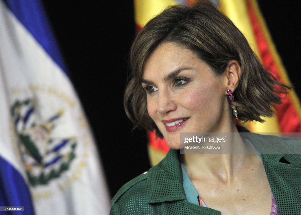 EL SALVADOR-SPAIN-QUEEN-LETIZIA : News Photo