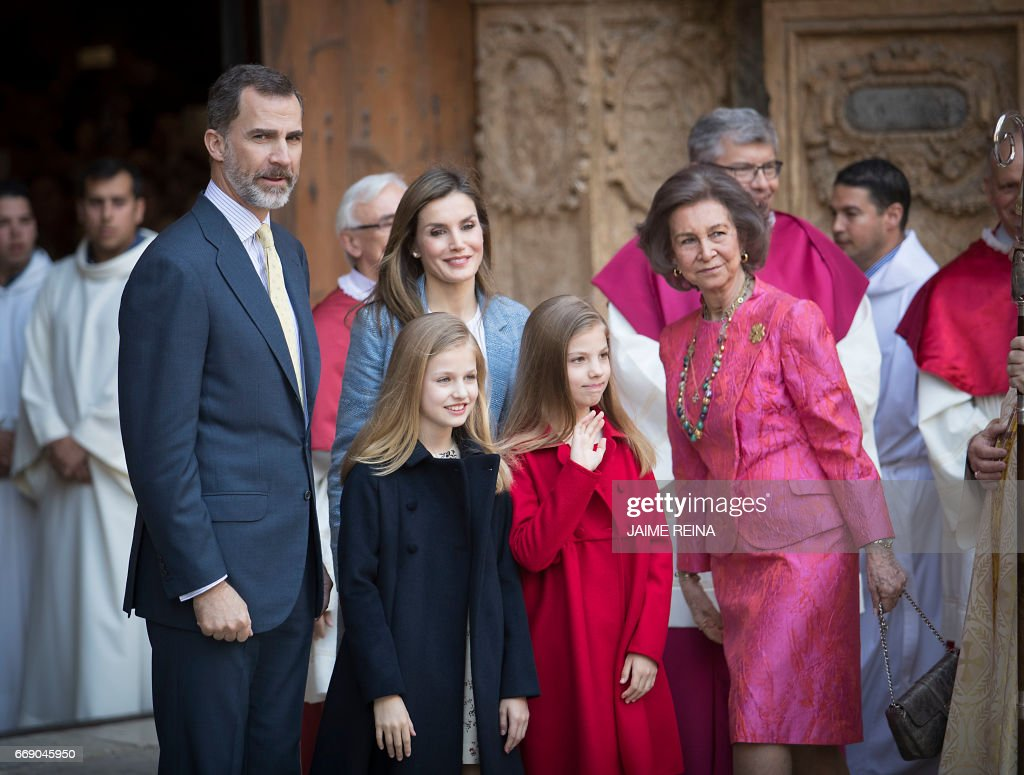 SPAIN-ROYALS-EASTER : News Photo