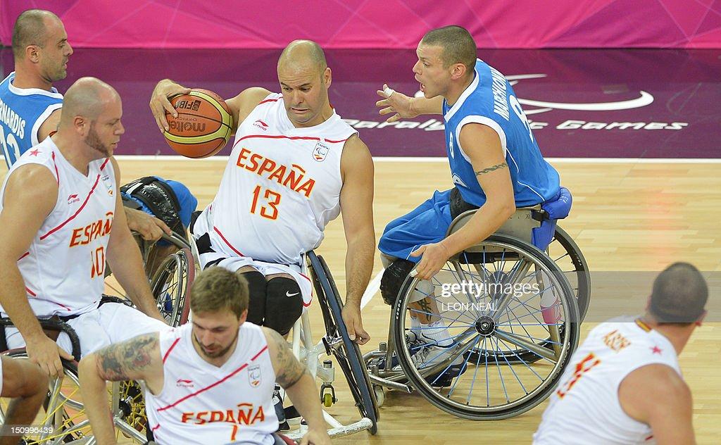 OLY-2012-PARALYMPICS-BASKET-ESP-ITA : Fotografía de noticias