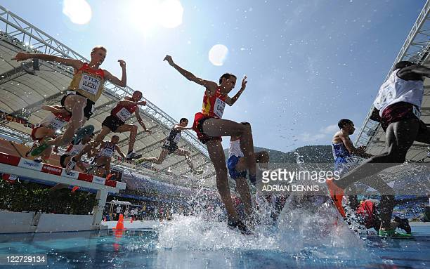 Spain's Víctor Garcia competes in the men's 3000 metres steeplechase heats at the International Association of Athletics Federations World...
