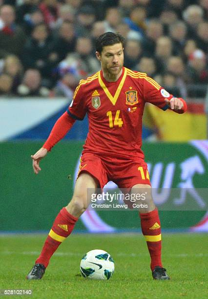 Spain,s Xabier Alonso during the FIFA 2014 World Cup qualifying round group I soccer match, France Vs Spain at Stade de France in Saint-Denis suburb...