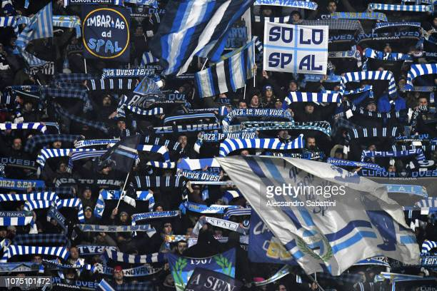 Spal fans during the Serie A match between Spal and Udinese at Stadio Paolo Mazza on December 26 2018 in Ferrara Italy