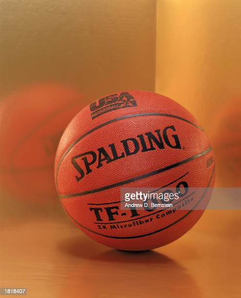 Spalding basketball is the official ball used by the 2003 USA Men's Senior National Team Photo Illustration shot at Philips Arena on February 8 2003...