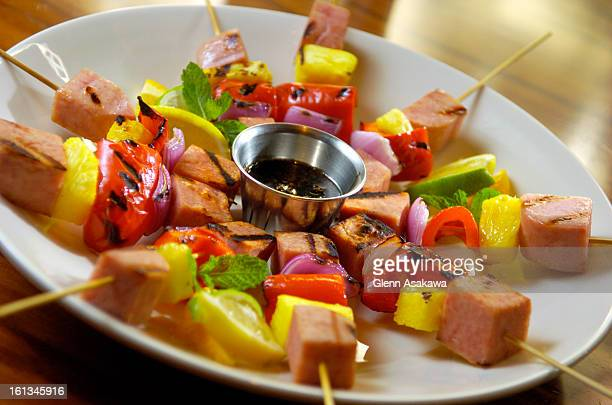 12SPAM Spam kabobs created by chef Tim Opiel <cq> at the Rialto Cafe Glenn Asakawa / The Denver Post