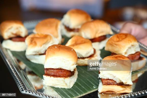 Spam sliders are served during the Dale Talde brunch with Alvin Cailan of Eggslut at Rice Gold on October 15 2017 in New York City
