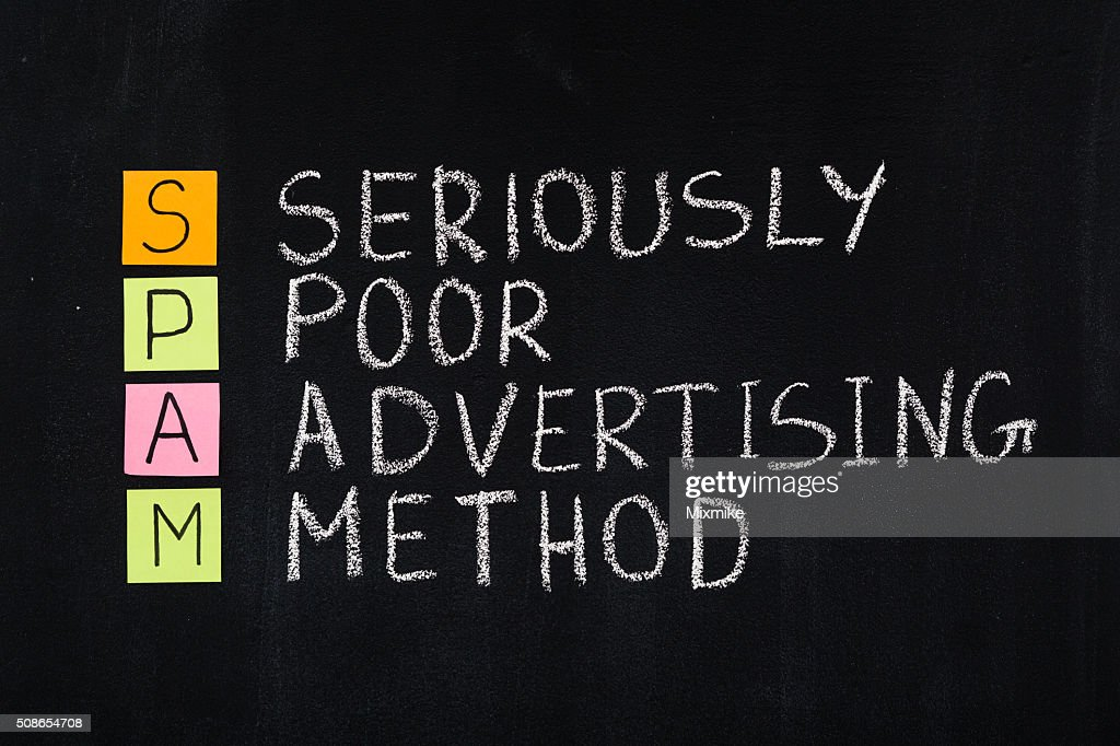 Spam word acronym : Stock Photo