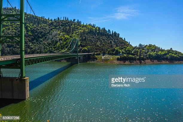 Span Bridge on Hwy 162 crossing over Lake Oroville showing water level at above normal capacity.