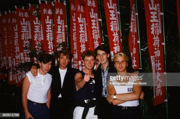 Spandau Ballet at Akasaka Hie Shrine November Tokyo Japan Tony Hadley Gary Kemp Martin Kemp Steve Norman John Keeble