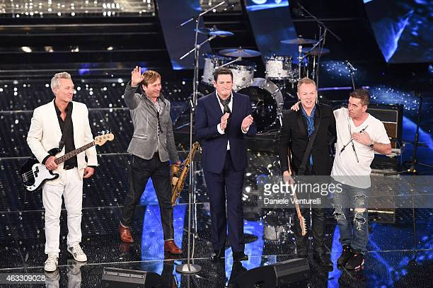 Spandau Ballet attend the thirth night of 65th Festival di Sanremo on February 12 2015 in Sanremo Italy
