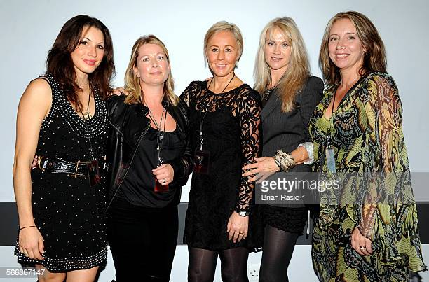 Spandau Ballet In Concert At The O2 Dublin Ireland Britain 13 Oct 2009 Spandau Ballet Members' Wives After The Concert Lauren Kemp Alison Evers...
