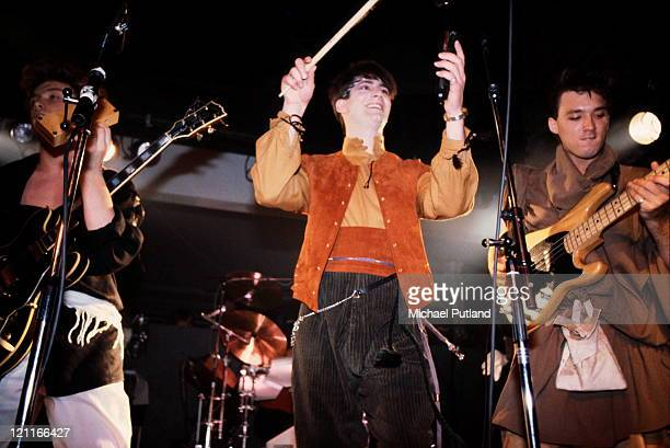 Spandau Ballet perform on stage New York May 1981 LR Gary Kemp Tony Hadley Martin Kemp