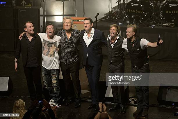 Spandau Ballet performs on stage after the screening of the the 'Soul Boys of the Western World' documentary on October 23 2014 in Ghent Belgium
