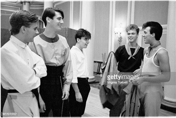 Spandau Ballet posed in the Ritz Hotel London on August 12 1980 LR Steve Norman Tony Hadley John Keeble Gary Kemp Martin Kemp