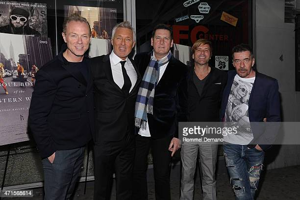Spandau Ballet stars Gary Kemp Martin Kemp Tony Hadley Steve Norman and John Keeble attend Soul Boys Of The Western World New York Screening at IFC...