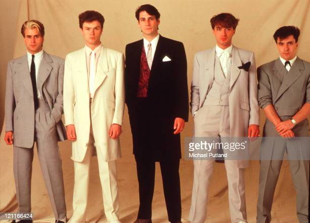 Spandau Ballet studio group portrait London May 1983 LR Steve Norman Gary Kemp Tony Hadley Martin Kemp John Keeble