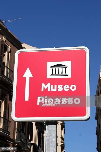 Spanien, Andalusien, Malaga , Schild Picasso Museum