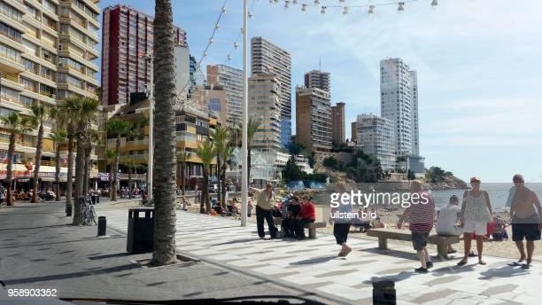 Spanien, Benidorm, Costa Blanca, , Ferienort für Britische Touristen und Briten die ihren Lebensmittelpunkt nach Spanien verlegt haben.
