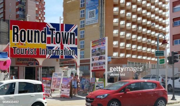 Spanien, Benidorm, Costa Blanca, , Touristeninformation in Englisch, Infrastruktur für Britische Touristen und Briten die ihren Lebensmittelpunkt...