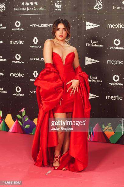 Spanis Singer Lola Indigo attends 'Los40 music awards 2019' photocall at Wizink Center on November 08 2019 in Madrid Spain