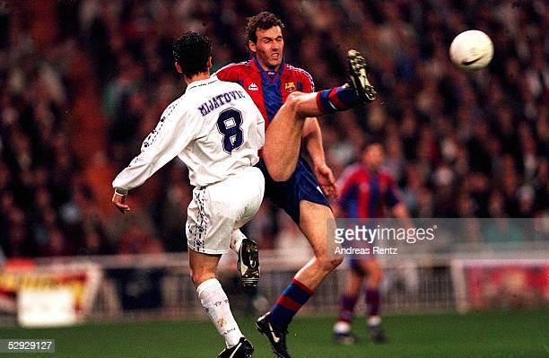 FUSSBALL Spanischer Pokal Real Madrid FC Barcelona 11 060297 MIJATOVIC/REAL Laurent BLANC/BARCELONA