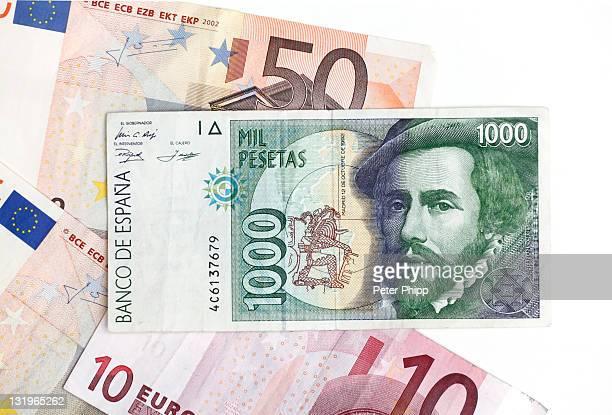 Spanish 1000 Peseta  Banknote with Euros