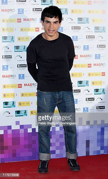 Spanish actor Abel Ayala attends 'Spanish Night Cinema' party at Cecilio Rodriguez Gardens in Retiro Park on June 20 2011 in Madrid Spain