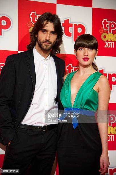"""Spanish actor Aitor Luna and actress Maria Valverde attend """"TP de Oro"""" Television Awards 2012 at the Canal Theater on February 13, 2012 in Madrid,..."""