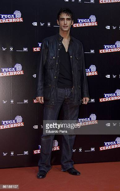 Spanish actor aitor luna attends 'Fuga de Cerebros' premiere at the Capitol Cinema on April 23 2009 in Madrid Spain