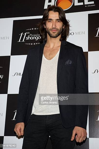 Spanish actor Aitor Luna attends Shangay awards 2012 at Calderon Theater on March 27 2012 in Madrid Spain