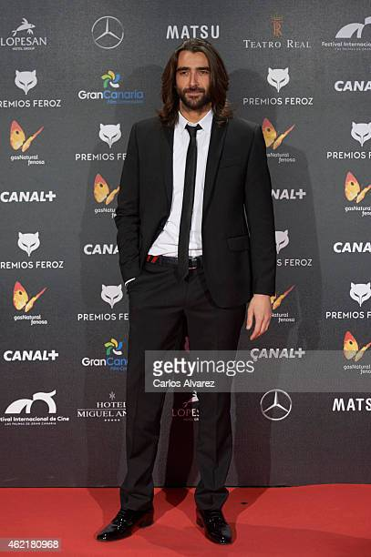 "Spanish actor Aitor Luna attends the ""Feroz"" Cinema Awards 2015 at Gran Teatro Ruedo Las Ventas on January 25, 2015 in Madrid, Spain."