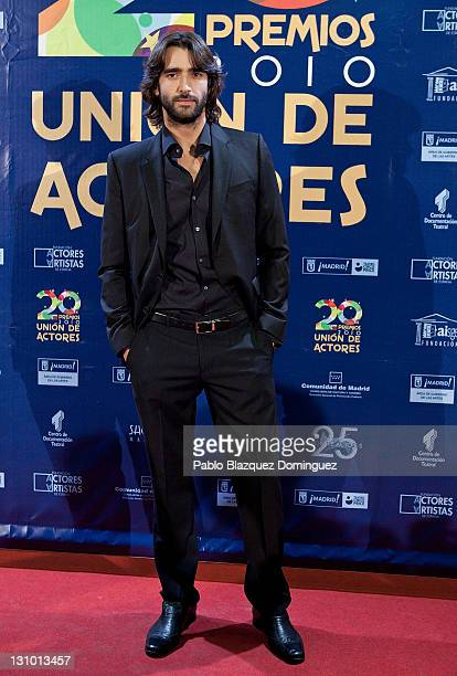 Spanish actor Aitor Luna attends XX Union de Actores Awards at Circo Price Theatre on October 31, 2011 in Madrid, Spain.