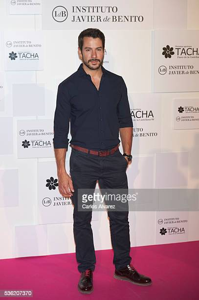 Spanish actor Alejandro Albarracin attends Tacha Beauty and Javier De Benito Institute party at the Santa Coloma Palace on May 31 2016 in Madrid Spain