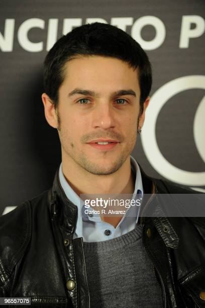 Spanish actor Alejo Sauras attends Corinne Bailey Rae concert at the Shoko Club on February 10 2010 in Madrid Spain