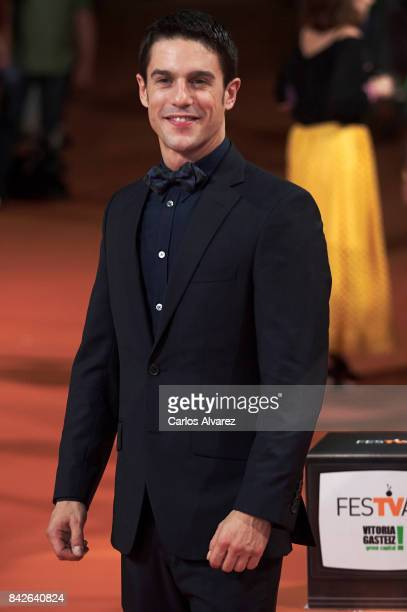 Spanish actor Alejo Sauras attends 'Estoy Vivo' premiere during the FesTVal 2017 at the Principal Teather on September 4 2017 in VitoriaGasteiz Spain