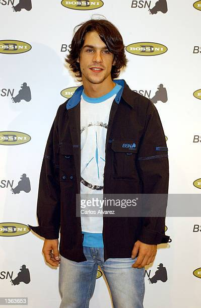 Spanish actor Alejo Sauras attends the Bossini/Tony Wear Fashion Show 2002 September 1 2002 in Madrid Spain
