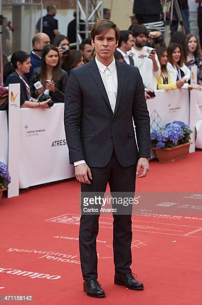 Spanish actor Alex Barahona attends the 18th Malaga Spanish Film Festival close ceremony at the Cervantes Theater on April 25 2015 in Malaga Spain