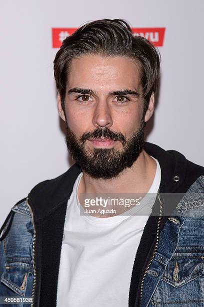 Spanish actor Alex Barahona attends the Leiva concert at Joy Eslava Club on November 25 2014 in Madrid Spain