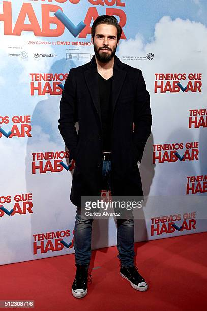 Spanish actor Alex Barahona attends the 'Tenemos Que Hablar' premiere at the Palacio de la Prensa cinema on February 25 2016 in Madrid Spain