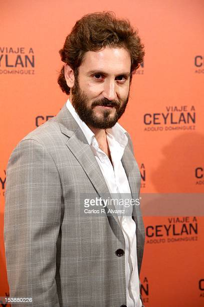 Spanish actor Alex Gadea attends the 'Viaje A Ceylan' parfum presentation by Adolfo Dominguez on October 10 2012 in Madrid Spain